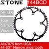 אבן 144 BCD Chainring מסלול אופני fixie הילוך קבוע צר n רחב 44 46 48 50 52 54 55 56 58T 60T ChainWheel עגול 144bcd