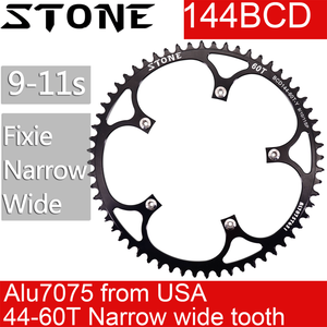 Image 1 - حجر 144 BCD سلسلة المسار الدراجة fixie الثابتة والعتاد ضيق n واسعة 44 46 48 50 52 54 55 56 58T 60T سلسلة مستديرة 144bcd