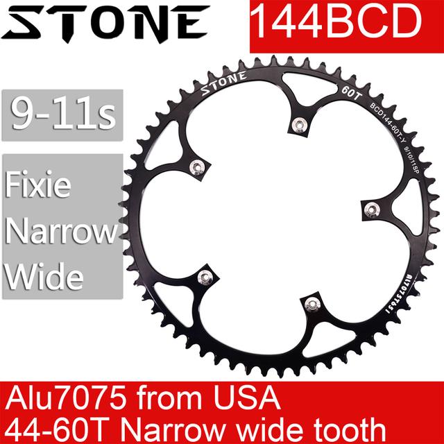 Велосипедная колея fixie 144 BCD, фиксированная шестерня, узкая, широкая, 44, 46, 48, 50, 52, 54, 55, 56, 58T, 60T, круглая, 144bcd