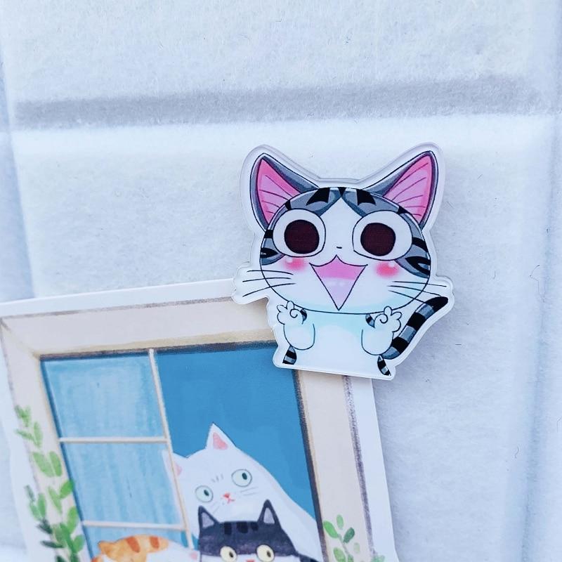 1pcs Cat Cute Push Pin Shaped Office Pin Thumbtack Decoration Felt Cork Message Board Thumb Tack Pin PushPin Binding Supplies