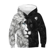 Boy Hoodies Kids Jacket Baby-Boys Outerwear Polyester 3D Print Digital-Printing Starry-Lion