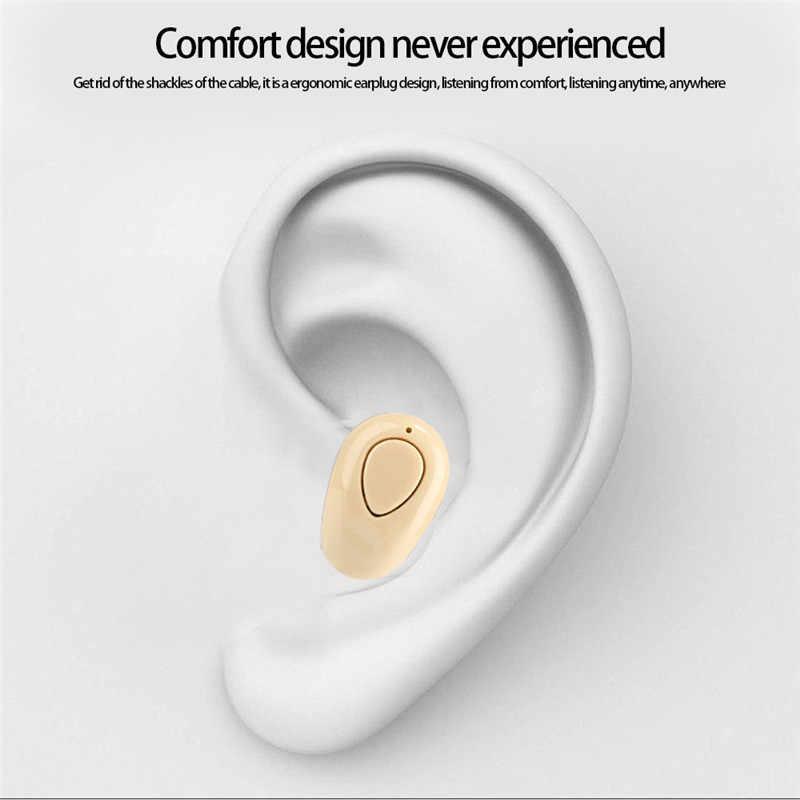 S520 Mini bezprzewodowy zestaw słuchawkowy Bluetooth w ucho sportowe z mikrofonem bezobsługowy zestaw słuchawkowy Stereo niewidoczne słuchawki douszne Auriculares dla wszystkie telefony