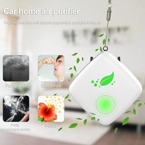 Air Purifier Portable Necklace Wearable USB Rechargeable Air Cleaner Personal Negative Ion Air Freshener For Car Home Adult Kids