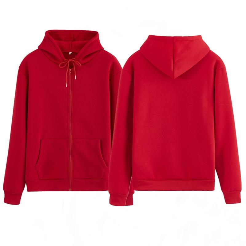 Women Sweatshirt Casual Solid Colors Oversized Full Zip-Up Hoodies Jacket 2020 Winter Velvet Thickening Warm Tops Long Sleeve 5