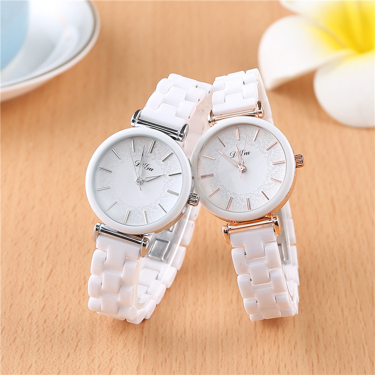 SAILWIND Luxury Crystal Wristwatches Women White Ceramic Ladies Watch Quartz Fashion Women Watches Ladies Wrist Watch For Female