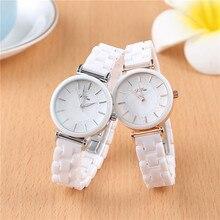 SAILWIND Luxury Crystal Wristwatches Women White Ceramic Ladies Watch Quartz