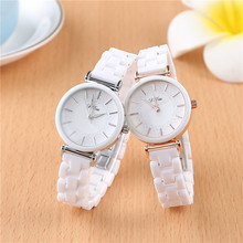 SAILWIND Luxury Crystal Wristwatches Women White Ceramic Ladies Watch