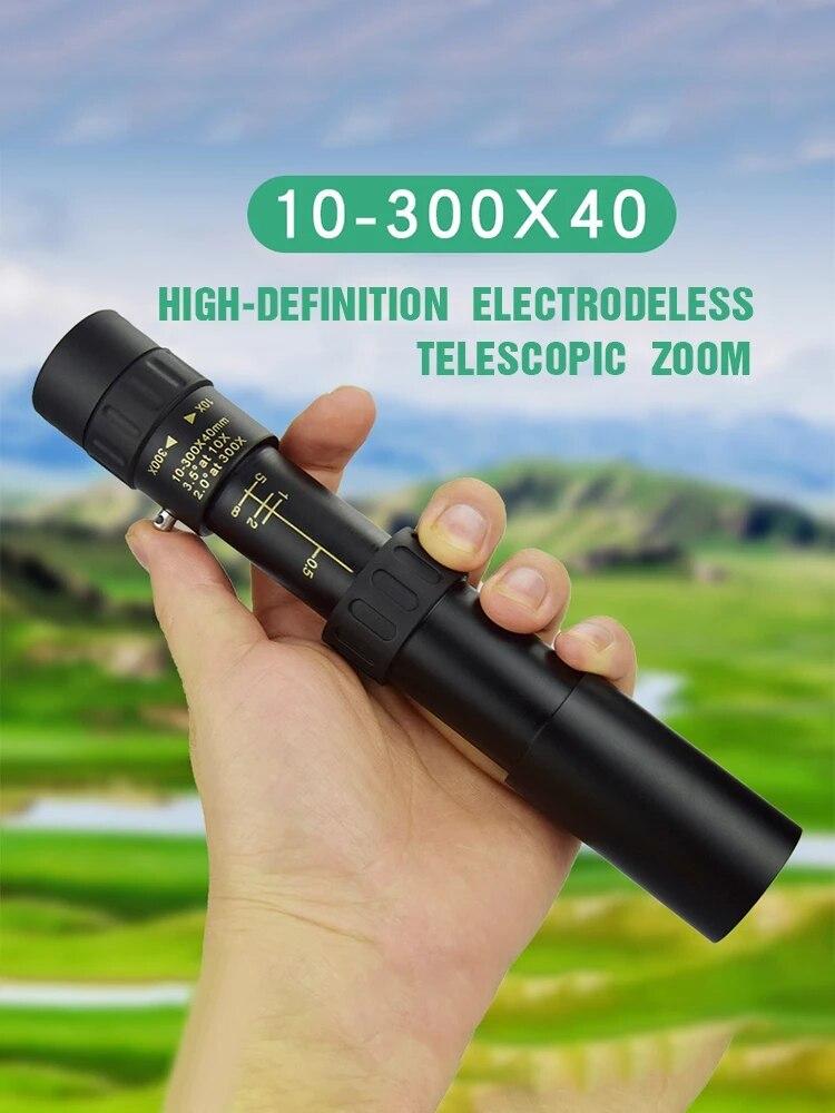 4K 10-300X40 Профессиональный Монокуляр телескоп супер с переменным фокусным расстоянием HD BAK4-Prism высокого качества окуляр Портативный бинокль ...