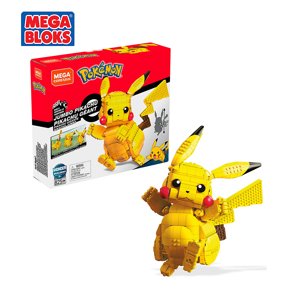 MEGA BLOKS Toy Pokemon Series Building Blocks Pokemon Giant Pikachu Pocket Monsters Kids Toys Christmas Gift FVK81 1