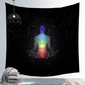 Image 4 - Notte stellata Galaxy Decor Psichedelico Arazzo Appeso A Parete Indiana Mandala Arazzo Hippie Chakra Arazzi Boho Panno Parete