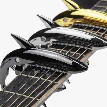 Zinc Alloy Guitar Capo Tuning Guitar Shark Capo Accessories Quick Change Clamp Key Acoustic Classic Tone Adjusting Guitar Parts universal capo guitar accessories quick change clamp key aluminium alloy metal acoustic classic guitar capo for guitar parts
