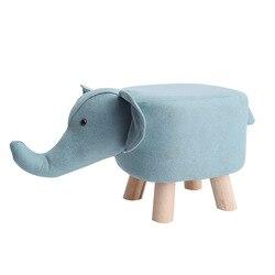 Sólido de madera silla creativo zapato taburete de cambio niños pequeño banco de dibujos animados lindo hogar pequeño taburetes para prueba