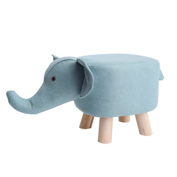 Solid Wood Animal Chair Creative Shoe Changing Stool Kids Small Bench Cute Cartoon Household Small Stools For Shoe Test