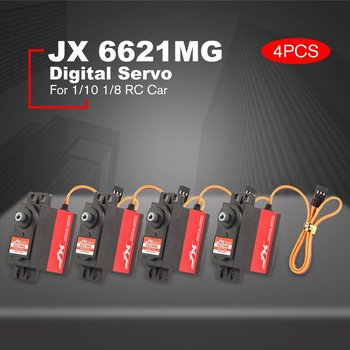 4 PCS JX PDI-6221MG Metal Gear 4.8V-6V 0.16sec/60' Digital Servo Torque Aluminums Case for 1/10 1/8 RC Car/HHK big Airplane Part