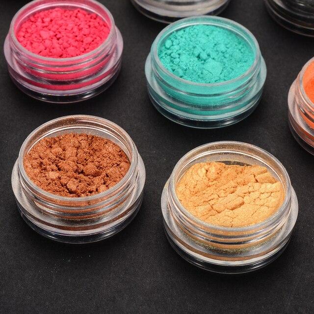 12 couleurs Mica poudre résine époxy colorant perle Pigment naturel Mica minéral à la main savon colorant poudre pour la fabrication de savon cosmétiques