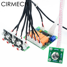 CIRMECH Relay 4 way Audio Input Signal Selector Switching  RCA Audio Input Selection Board of Button switch for amplifiers