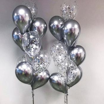 20 sztuk Chrome Metal złoto srebro konfetti do balonów zestaw dekoracje na imprezę urodzinową dla dorosłych dla dzieci hel Globos balony dekoracje ślubne tanie i dobre opinie MMQWEC CN (pochodzenie) Lateks Ślub i Zaręczyny Chrzest chrzciny Wielkie wydarzenie do ujawnienia płci przyjęcie urodzinowe