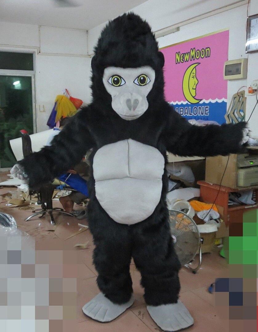 Gorilla Mascot Costume Adult Monkey Ape Animal Cosplay