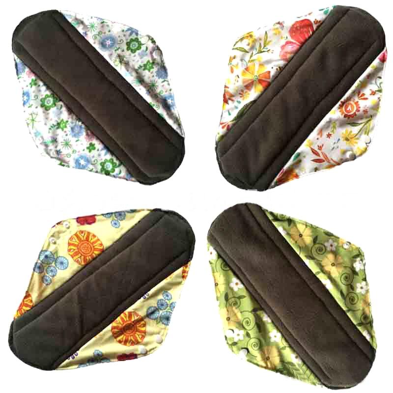 S/M/L lavable cojín Menstrual sanitarias reutilizables Menstrual almohadilla mama de tela de algodón de higiene femenina Panty Liner toalla almohadillas