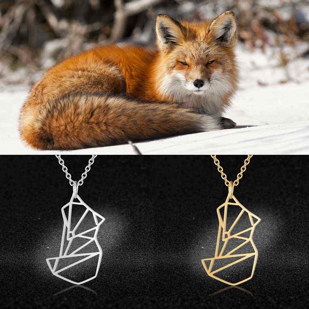 Unikalne biżuteria dla zwierząt naszyjniki dla kobiet 100% ze stali nierdzewnej Super lis lew wąż jednorożec wisiorek naszyjnik specjalny prezent