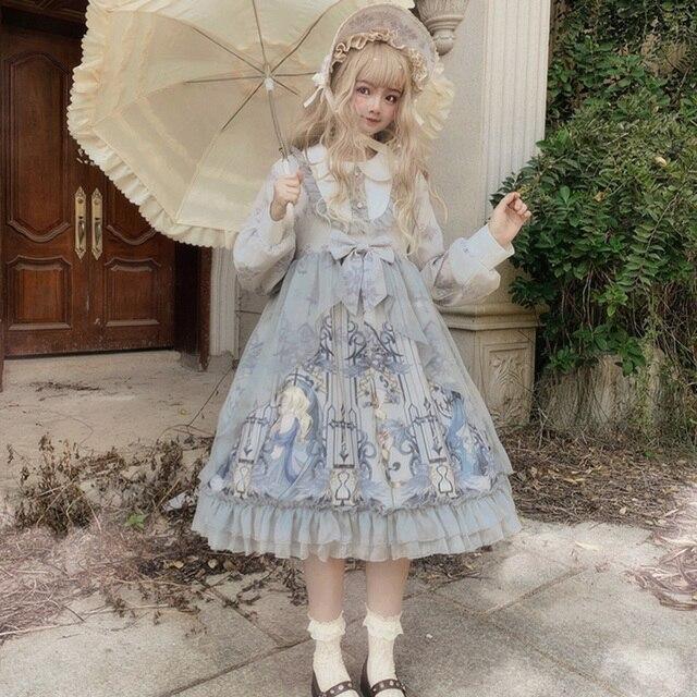винтажное платье в стиле питера пэна с воротником и высокой фотография