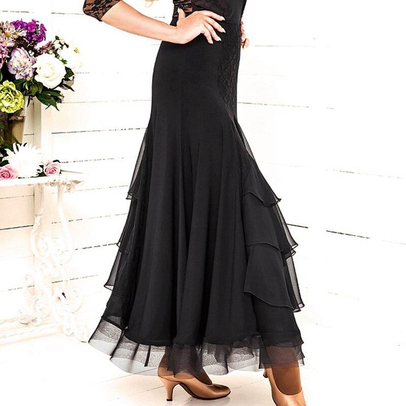 Ballroom Skirt Swing Fish Bones Skirt Hem Modern Practice Clothes Latin Tango Dress Flamengo Skirt Performance Dance Skirt BI164