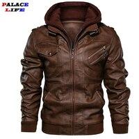 Brand Oblique Zipper Motorcycle Leather Jacket Men 2019 Autumn Winter Streetwear Pu Leather Coat Eu size S XXXL Jaqueta Couro