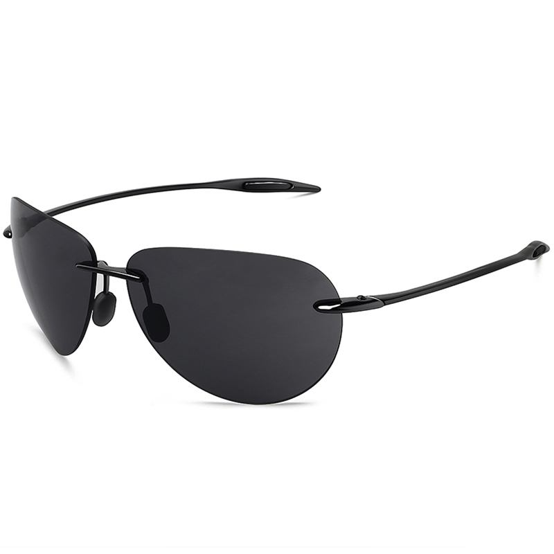 Juli clássico esportes óculos de sol masculino condução piloto sem aro tr90 ultraleve quadro uv400 gafas de sol mj8008