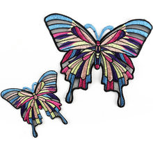 butterfly Iron on Patches for Clothes Embroidered Glue Thermal Stick For clothing Diy Sewing Accessories Embroidery Patch(China)