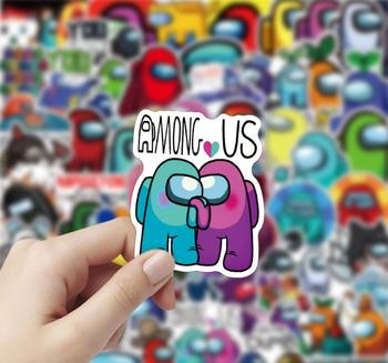 ZK60 100pcs/pack Among Us Hot Game Graffiti Stickers For Kids Gift Water Cup Cars Luggage Notebook Skateboard Waterproof Sticker image