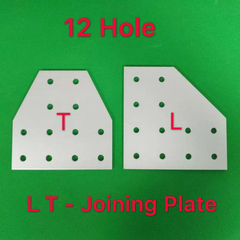 12 Hole  2040 3060 4080 4590 Joining Plate Connection Plate Corner Bracket Joint Board For Aluminium Profiles