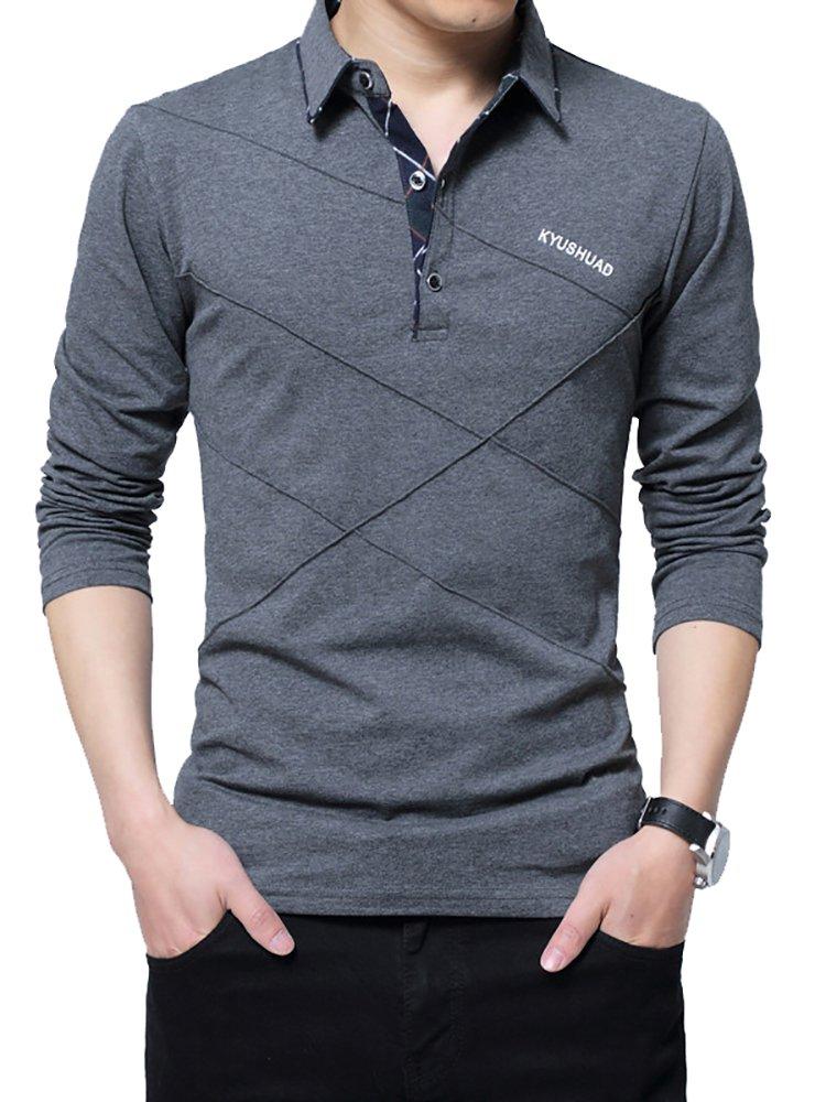 TFETTERS Brand T-Shirt Slim-Fit Designer Stripe Plus-Size Loose Cotton Casual Turn-Down
