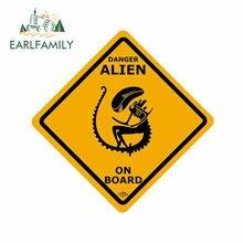EARLFAMILY – autocollants de voiture en vinyle pour Alien à bord, 13cm x 12.3cm, décoration Anime étanche, anti-rayures pour véhicule automobile