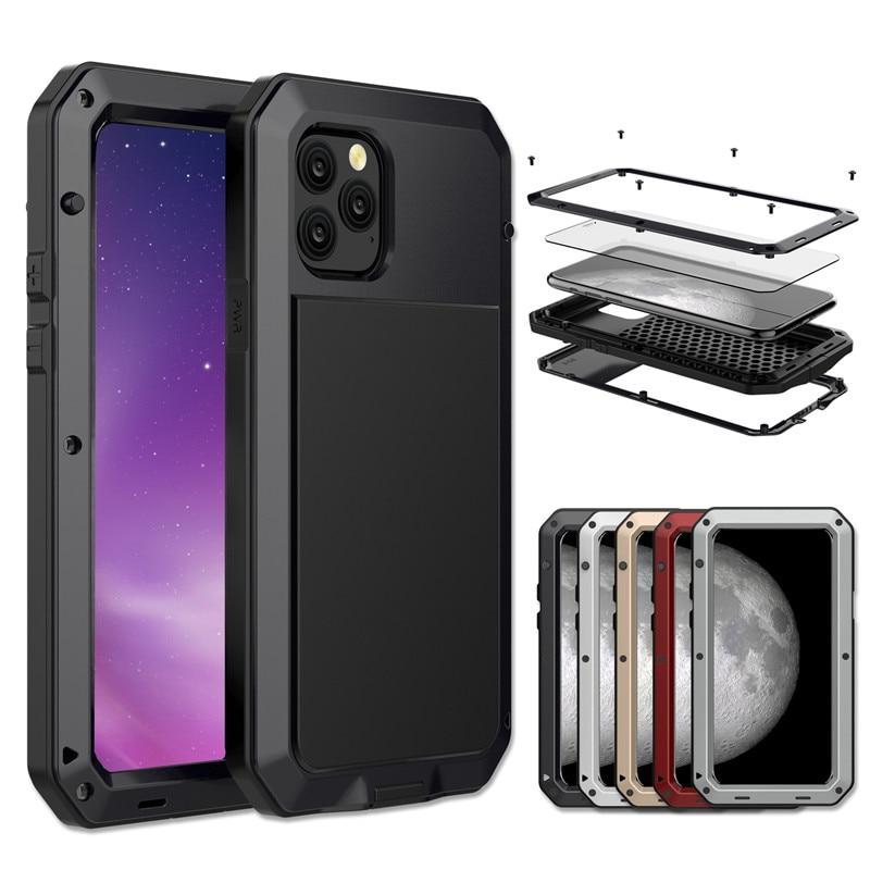Сверхмощный металлический алюминиевый чехол для телефона iPhone 12 11 Pro Max XR XS 6 6S 7 8 Plus X 5S SE 2020 Doom Armor противоударный чехол