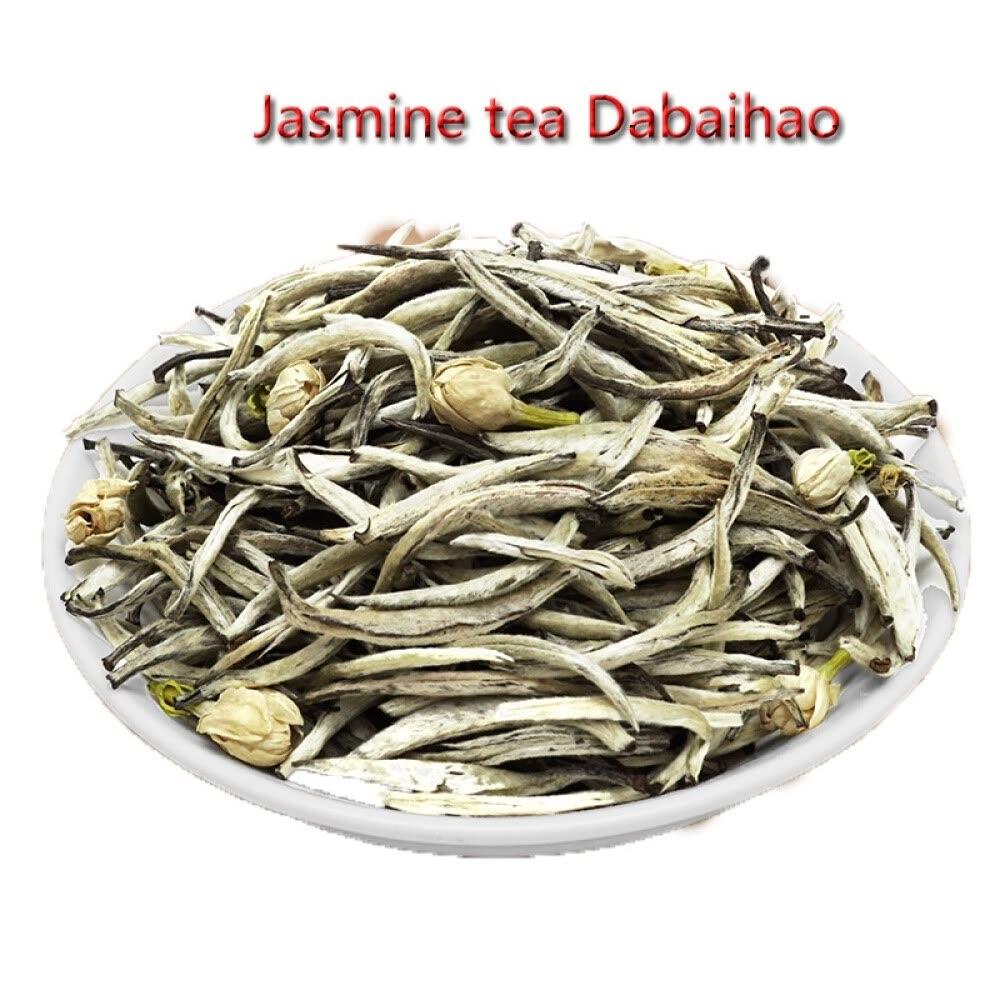Jasmine tea 100g sealed pocket jasmine silver needle Jasmine big white aroma Jasmine White Silver Needle 100g