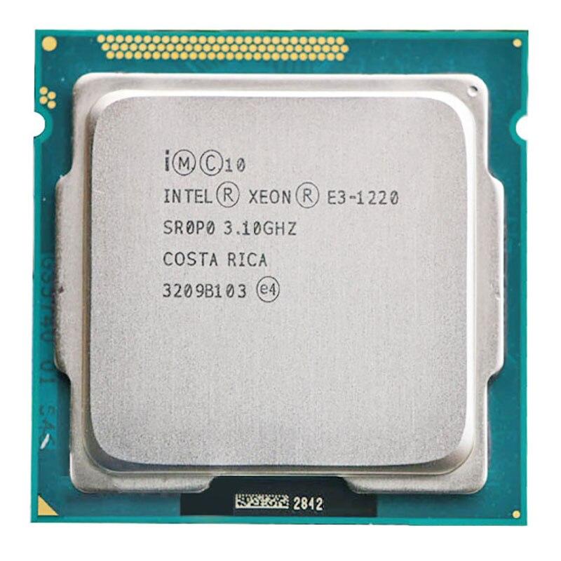 Galleria fotografica Originale <font><b>INTEL</b></font> XEON E3-1220 CPU E3 1220 80W Socket 1155 Server di CPU (3.1 GHz/8 M/ LGA1155)