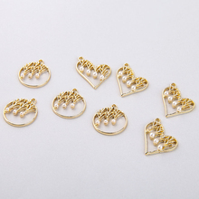 6pcs Fashion Heart-shaped Creative earring material pearl hollow round drop rectangular Earrings for Women pendant accessories 2018 the new heart pearl pendant fashion simple earrings long pearl heart shaped earrings girl party accessories