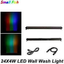 Free Shipping 24X4W RGBW 4IN1 LED Wall Washer Light Indoor DMX Wash Bar Light LED Stage Lighting Effect Good For Dj Disco Partys free shipping new 20w dmx led optic fiber light engine led illuminator for diy home decorated lighting popular brazil russ usa
