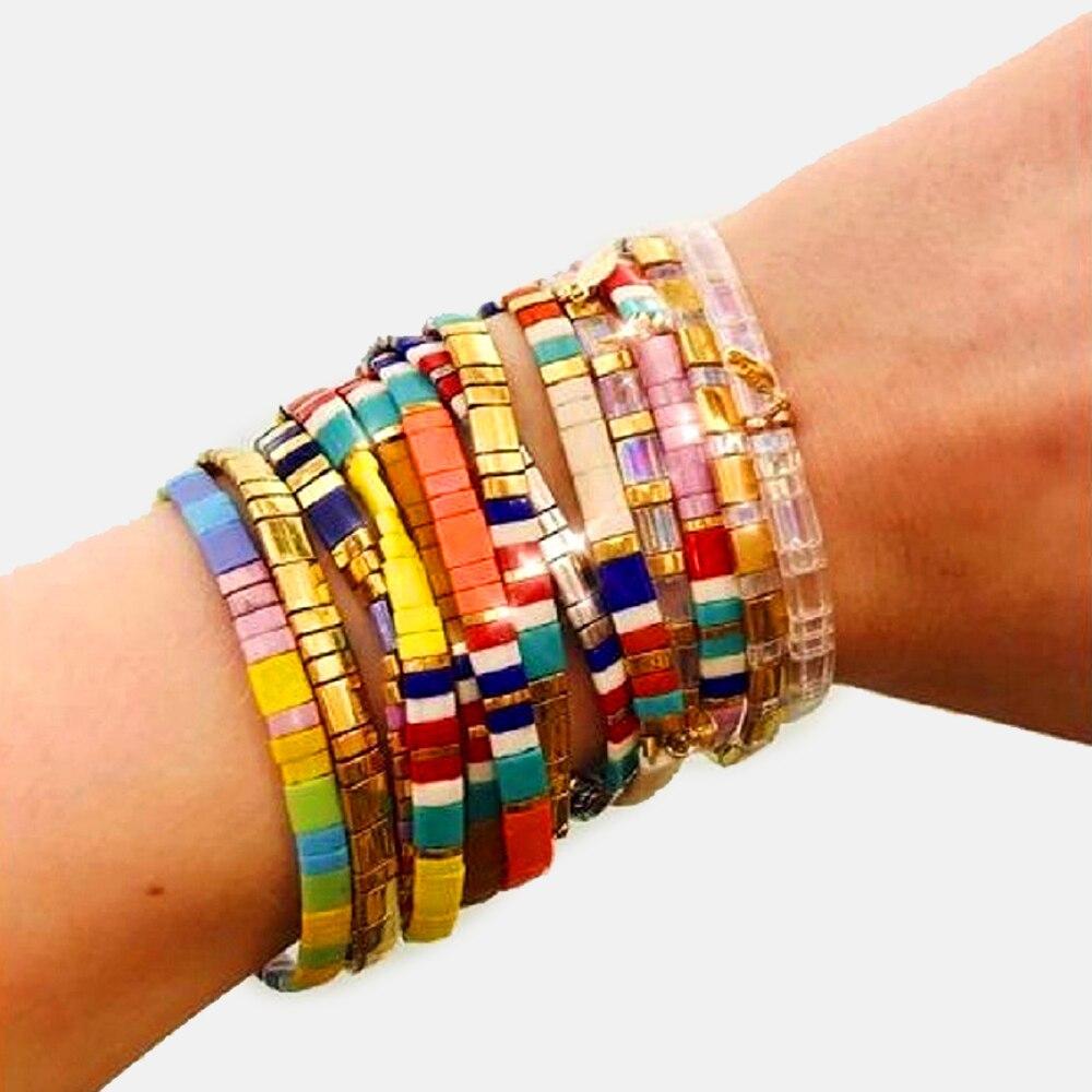 Go2boho Miyuki Bracelet For Women Rainbow Bracelets Handmade Pulseira Mujer Moda 2020 Femme Tila Beads Jewelry Colorful Bohemian