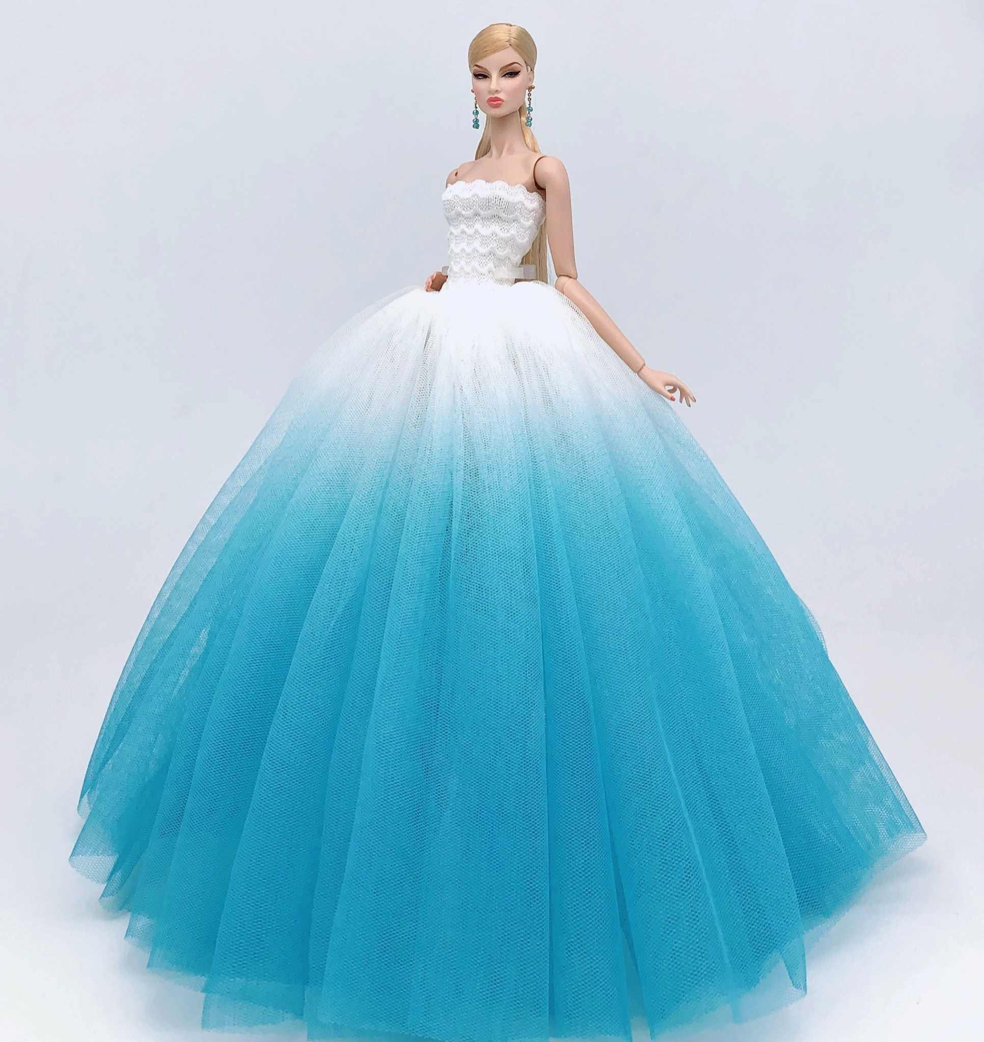 Estojo para barbie doll roupas, vestido de princesa, traje de luxo, vestido de noiva, de casamento, brinquedos fantasia, presente de aniversário