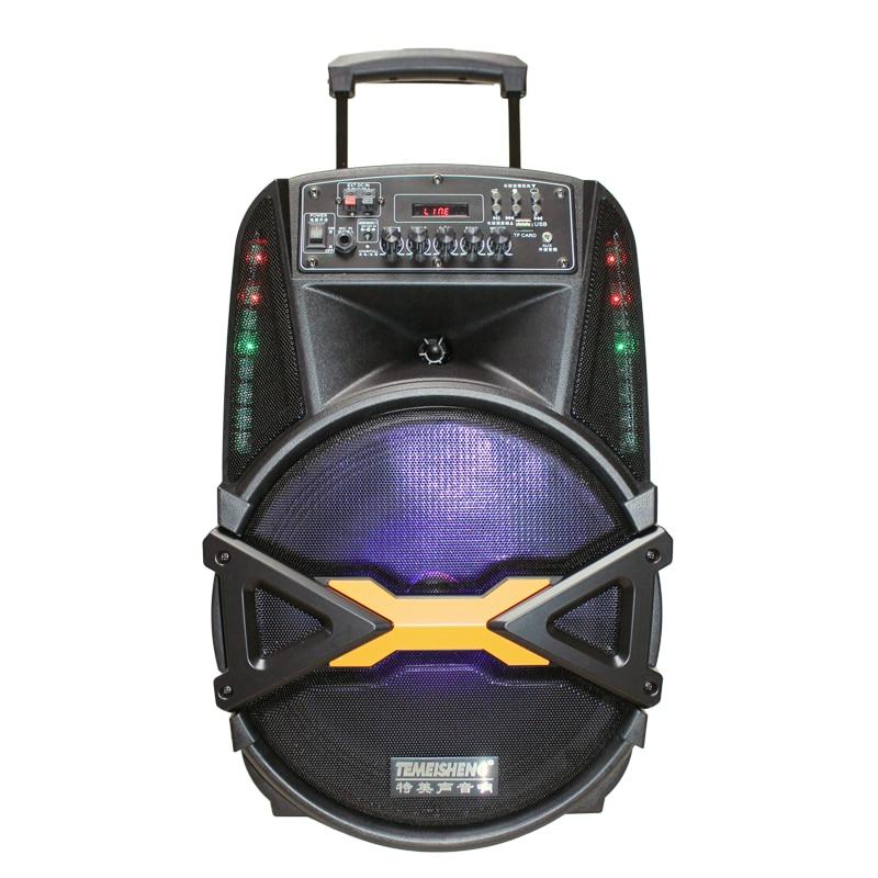 Haut parleur extérieur de mode 160W Subwoofer 12''Bass Bluetooth haut parleur avec lumière colorée stéréo Portable Super grand haut parleur