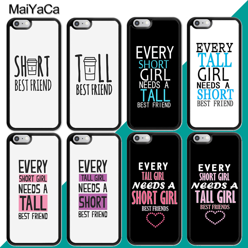 MaiYaCa Every Tall Girl Need A Short Best Friend <font><b>BFF</b></font> <font><b>Case</b></font> For <font><b>iphone</b></font> XR XS MAX 11 Pro MAX X 6 6S 7 8 Plus 5 5S Back Cover Shell image