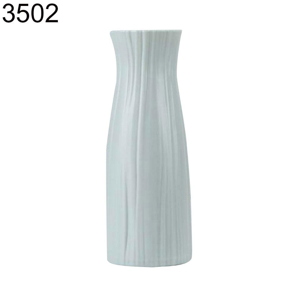 Пластиковый Небьющийся цветочный горшок ваза Современная Кабинет Прихожая Свадьба домашний офис Декор Настольная Ваза - Цвет: Green 3502
