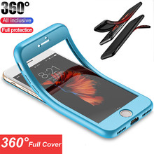 Fashion TPU Soft 360 Full Cover Cases For iPhone