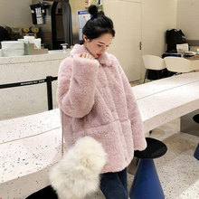Coat Jackets Faux-Fur Warm Autumn Fluffy Winter Women New Going Streetwear Out Thicken