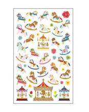 Merry Go Round Lovely Decoration Stationery School Office Supplies 1 Sheet Kawaii