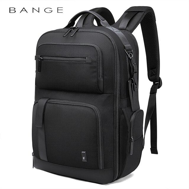 BANGE Men Business Backpack High capacity Waterproof Travel Backpack 15.6'Laptop Backpack School Bag Office Men Backpack