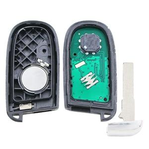 Image 3 - 4 + 1 כפתור חכם מרחוק מפתח Fob 433MHz עבור פיאט 500 500L 500X עבור ג יפ מצפן Renegade M3N 40821302 id46