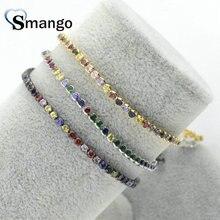 Wholesale Copper Micro Pave Colorful CZ Charm Bracelet In 3 Colors Top Quality Plating of 5 Pcs,B0069