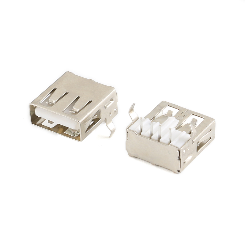 105Pcs USB 2.0 4Pin A Type Female Socket Connector 90 Degree Data Transmission Charging Plug Adapter PCB Cable (1)
